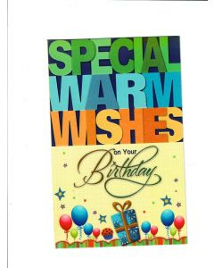 special warm wishes on your birthday Card