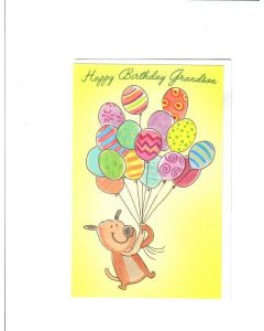 Happy Birthday Grandson Card - From Grandfather