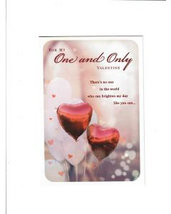 for my one and only valentine Card 190mm X 130mm