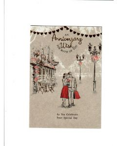 An anniversary wish for both of you Card