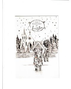 Wishing you blessing at christmas time Card