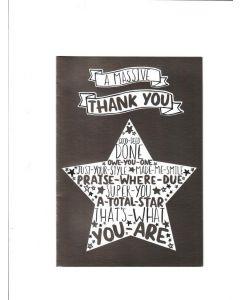 a massive thank you Card