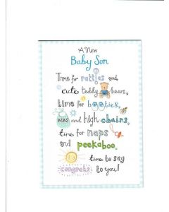 A new baby son Card