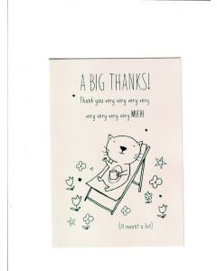 a big thanks thank you very very very very very very very very much Card