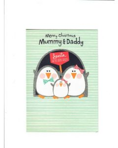 merry christmas mummy and daddy Card