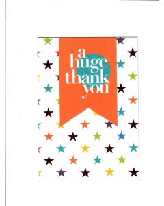a huge thank you Card 190mm X 135mm