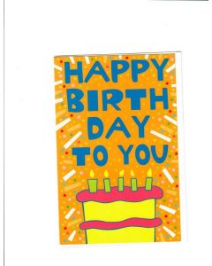 Hapy Birthday To You Card
