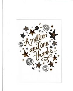 a million and one thanks Card