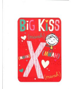 Season's Greetings Card - With a Big Kiss