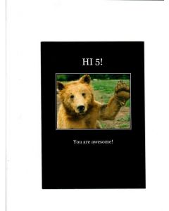 Hi 5 you are awesome Card