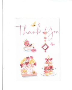 thank you LGS1078 Card 190mm X 130mm [PACK OF 6]