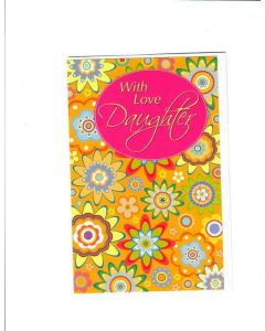 With love daughter Card