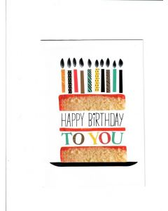Happy Birthday to you Card - Lovely Cake