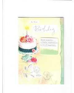 on your birthday sweet moments, a little celebration, a lot of hapiness Card