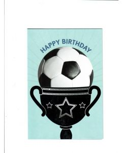 Happy Birthday Card - With A Football Trophy