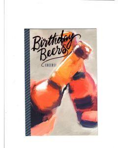 birthday beers cheers Card 200mm X 130mm