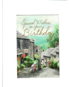special wishes on your birthday Card