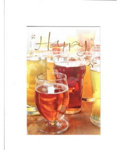 Happy Birthday Card - A Toast for You