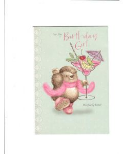 for the birthday girl it's party time Card 190mm X 130mm