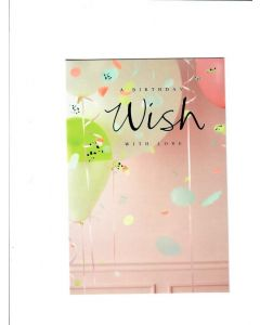 a birthday wish with love Card