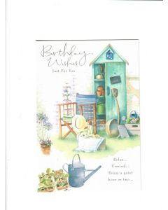birthday wishes just for you relax unwind enjoy a quiet hour or two Card 195mm X 135mm
