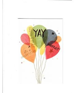 yay party time it? a celebration Card
