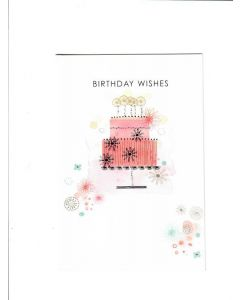 birthday wishes LGS1156 Card 200mm X 130mm [PACK OF 6]