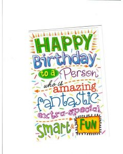 HAPPY BIRTDAY TO A PERSON Card