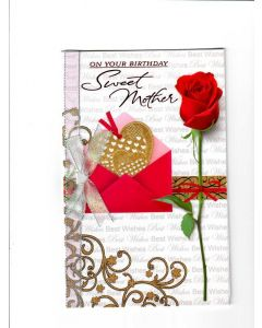 on your birthday sweet mother Card