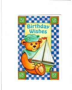 Birthday Wishes Card - Cute Teddy