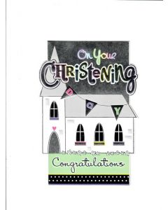 on your christening congratulations Card
