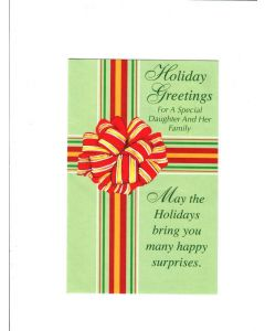 holiday greetings  for  a special daughter and her family Card