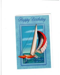Happy Birthday Card - Deep Sea View
