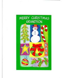 merry christmas grandson Card