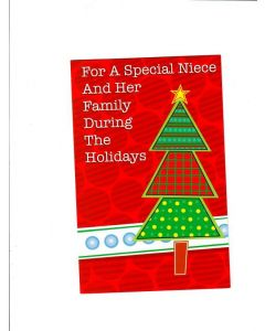 for a special niece and her family during the holidays Card