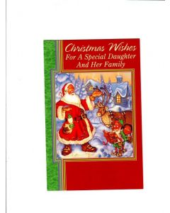 christmas wishes for a special daughter and her family Card