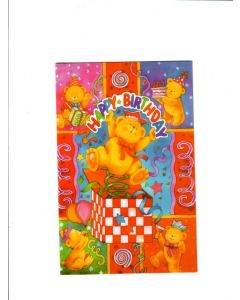 Happy Birthday Card - Teddy Bear Inside the Gift