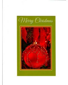 Merry Christmas Card -  Tree Decoration Red Ornament