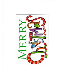 Merry Christmas Card - White