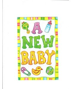 A New Baby Card - Toys