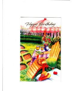 Happy Birthday Card - Chill in Resort
