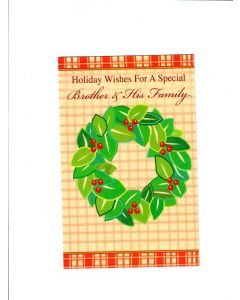 holidays wishes for a special brother&his family Card