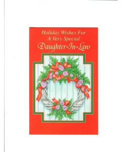 holidyas wishes for a very special daughter-in-law Card