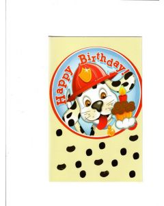 Happy Birthday Card - Puppy with Cake