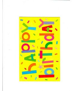 Happy Birthday Card - Yellow