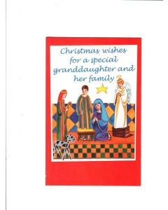 christmas wishes for a special granddaughter and her family Card