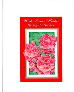 with love mother during the holidays Card