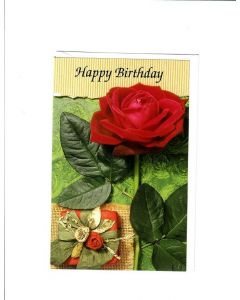 Happy Birthday Card - Rose for You