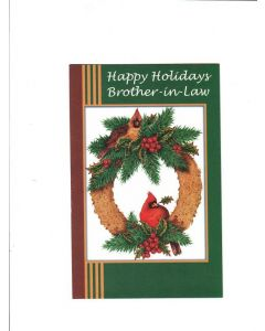 happy holidays brother-in-law Card