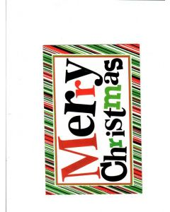 Merry Christmas Card - Multiple color